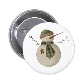 Snow Bobbins · Snowman Green Pinback Buttons