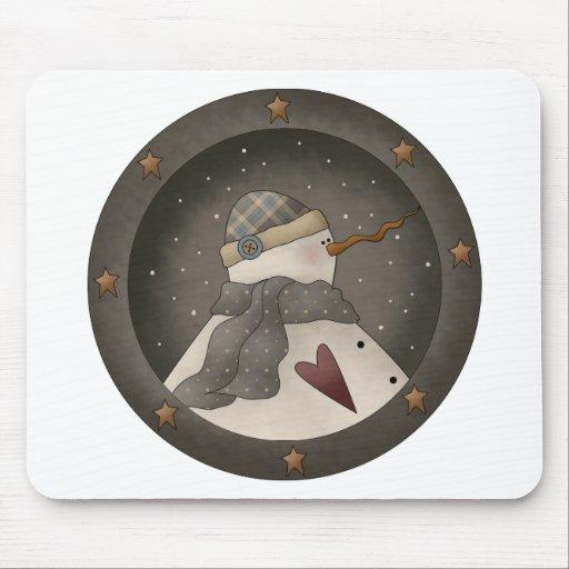 Snow Bobbins · Snowman Plate Mouse Pads