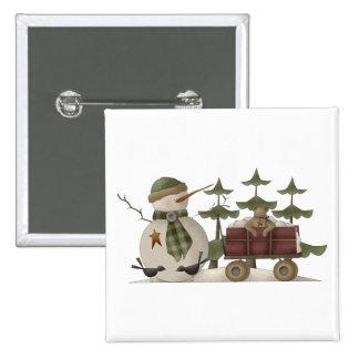 Snow Bobbins · Snowman With Wagon Pin