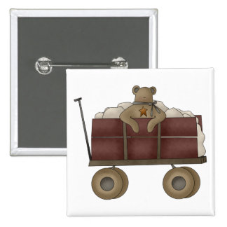 Snow Bobbins · Teddy Wagon Pinback Buttons