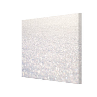 Snow Bokeh Canvas Print