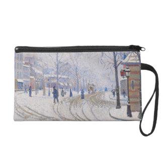 Snow, Boulevard de Clichy, Paris, 1886 Wristlets