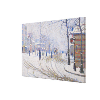 Snow, Boulevard de Clichy, Paris, 1886 Canvas Print