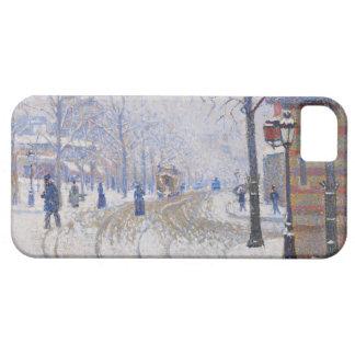 Snow, Boulevard de Clichy, Paris, 1886 iPhone SE/5/5s Case