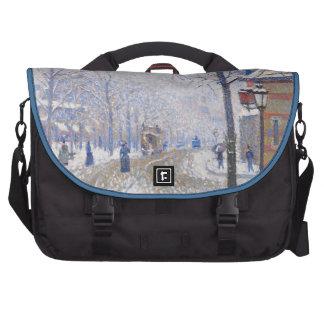 Snow, Boulevard de Clichy, Paris, 1886 Laptop Bag