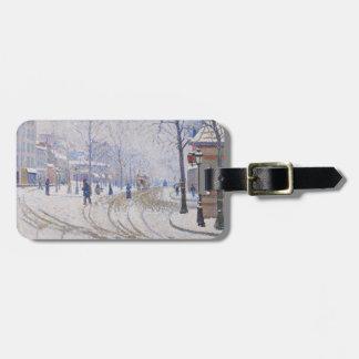 Snow, Boulevard de Clichy, Paris, 1886 Travel Bag Tags