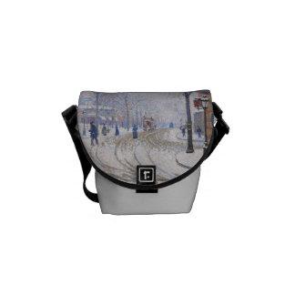 Snow, Boulevard de Clichy, Paris, 1886 Courier Bags
