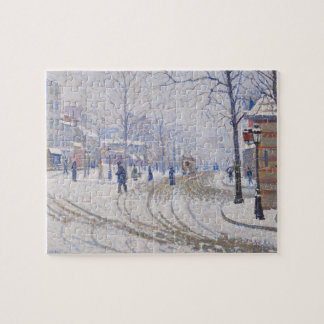 Snow, Boulevard de Clichy, Paris, 1886 Puzzle