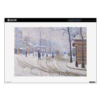 """Snow, Boulevard de Clichy, Paris, 1886 Skin For 15"""" Laptop"""