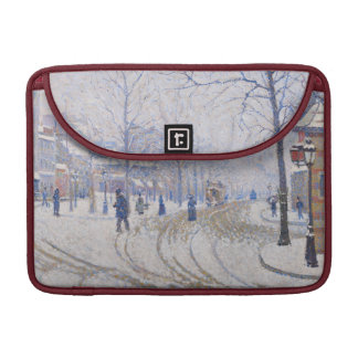 Snow, Boulevard de Clichy, Paris, 1886 Sleeve For MacBooks