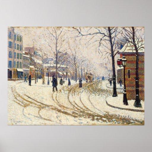 Snow, Boulevard de Clichy, Paris by Paul Signac Posters