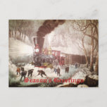 Snow Bound Train Business Christmas Card