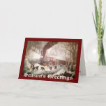 Snow Bound Train Christmas Card