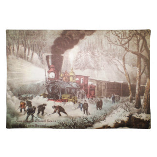 Snow Bound Train Placemat