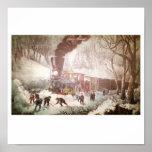 Snow Bound Train Poster