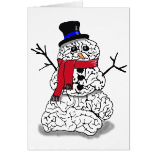 Snow Brain Greeting Card