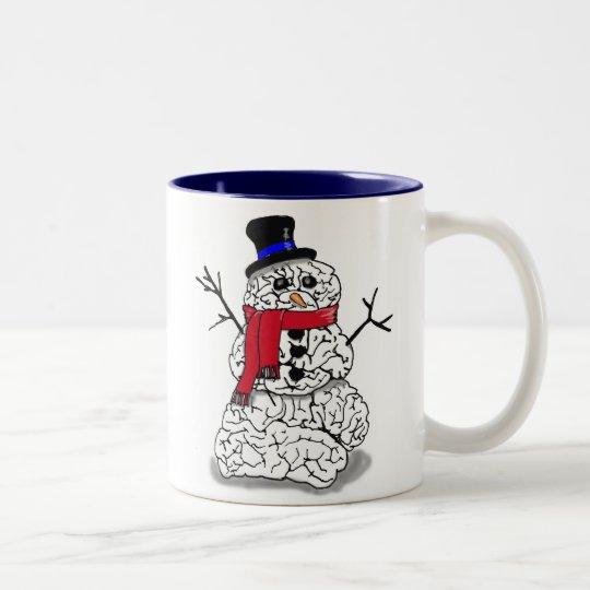 Snow Brain Two-Tone Coffee Mug