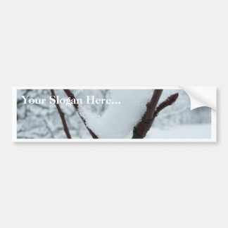 Snow Branch Bumper Sticker