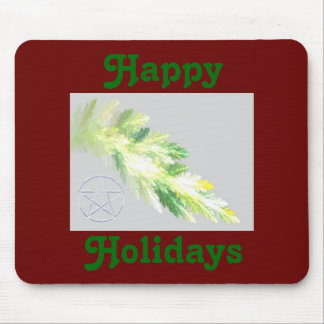 Snow Branch Happy Holidays  Mousepad