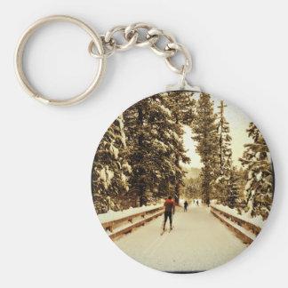 snow bridge key chains