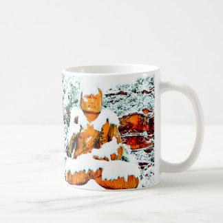 snow buddha mug