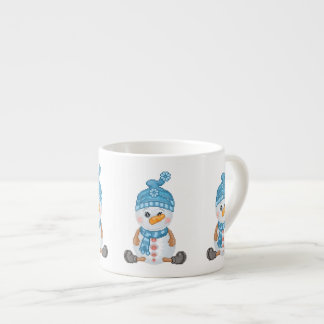 Snow Buddy Pixel Art 6 Oz Ceramic Espresso Cup
