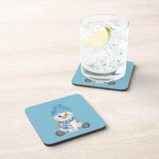 Snow Buddy Pixel Art Drink Coaster