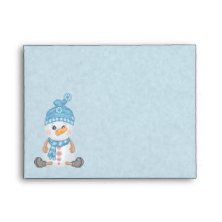 Snow Buddy Pixel Art Envelope