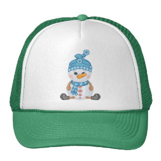 Snow Buddy Pixel Art Trucker Hat
