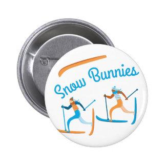 Snow Bunnies 2 Inch Round Button