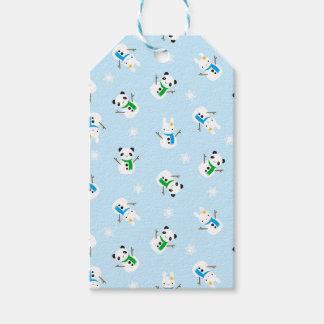 Snow Bunnies & Snow Pandas Gift Tags