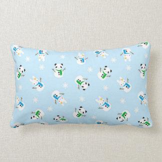 Snow Bunnies & Snow Pandas Lumbar Pillow