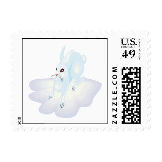 Snow Bunny 2 Postage Stamp