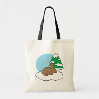 Snow Bunny Tote Bags