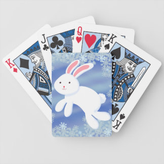 Snow Bunny Bicycle Playing Cards