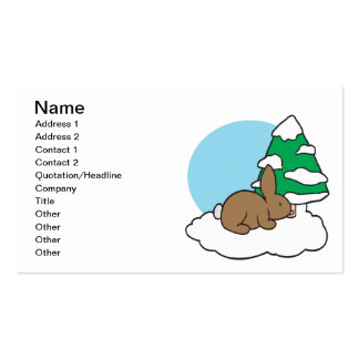 Snow Bunny Double-Sided Standard Business Cards (Pack Of 100)