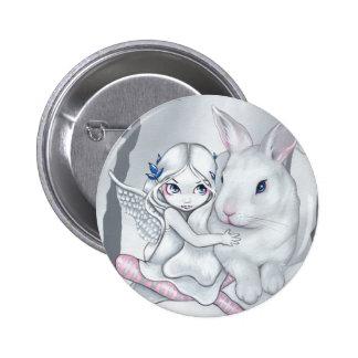 """""""Snow Bunny"""" Button"""