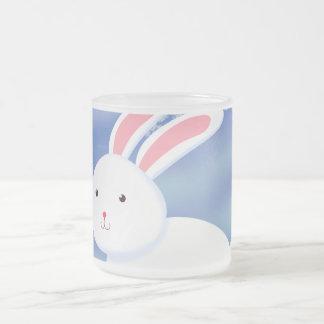 Snow Bunny Frosted Glass Coffee Mug