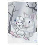"""Snow Bunny"" Greeting Card"