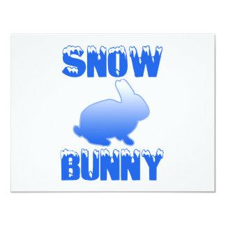 """Snow Bunny 4.25"""" X 5.5"""" Invitation Card"""