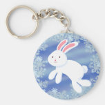 Snow Bunny Keychain