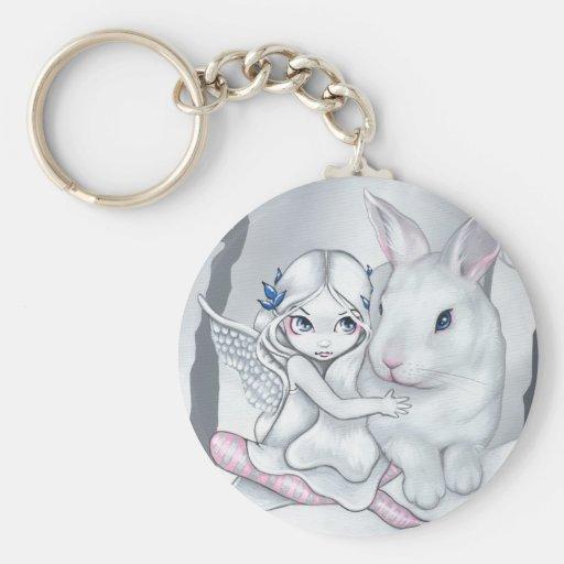 """""""Snow Bunny"""" Keychain"""
