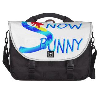 snow bunny laptop commuter bag