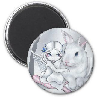 """Snow Bunny"" Magnet"