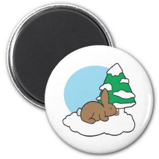 Snow Bunny Magnet