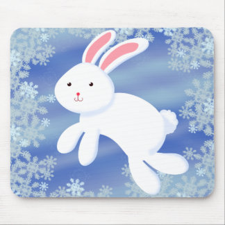 Snow Bunny Mouse Pad