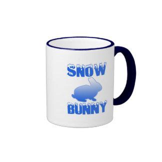 Snow Bunny Ringer Coffee Mug