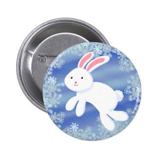 Snow Bunny Pinback Button
