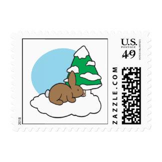 Snow Bunny Postage