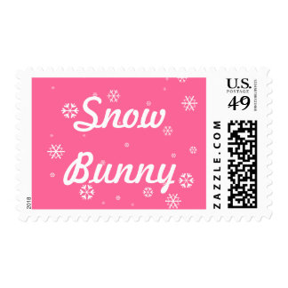 Snow Bunny Postage Stamp